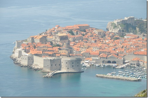 Dubrovnik, Croatia, as Viewed from Above