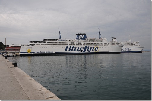 BlueLine Ferry from Split, Croatia, to Ancona, Italy