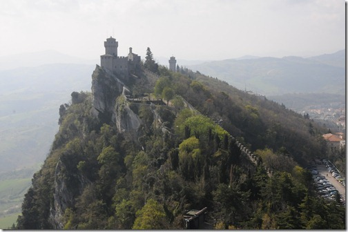 Cesta (De la Fratta), the highest of the Three Peaks on Mount Titano in the European microstate of San Marino