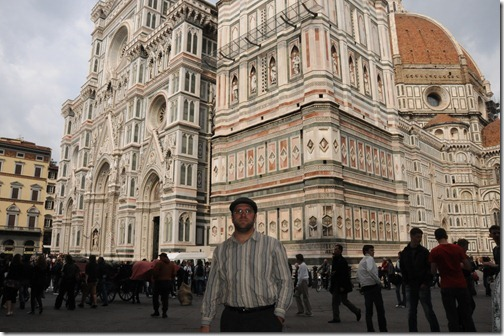 Self-portrait at the Florence Cathedral in Florence, Italy