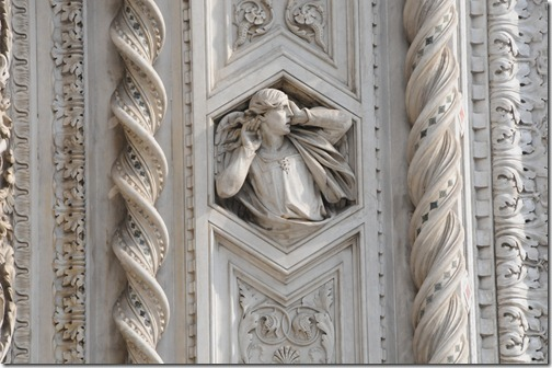 Close-up of a fresco on the Florence Cathedral, Florence, Italy