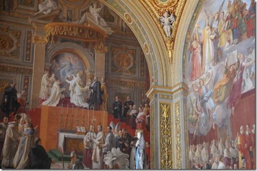 Portion of the ceiling in the Vatican Museum