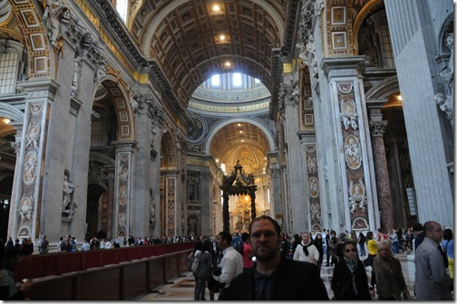 Self-portrait in St. Peter's Basilica, Vatican City