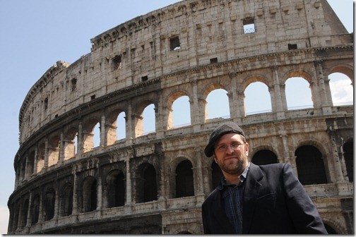 Self-portrait at the Colosseum of Rome, Rome, Italy