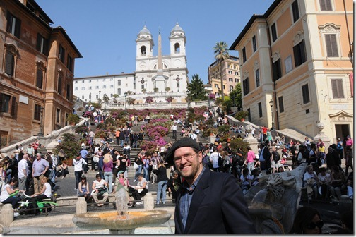 Self-portrait at the Spanish Steps, Rome, Italy
