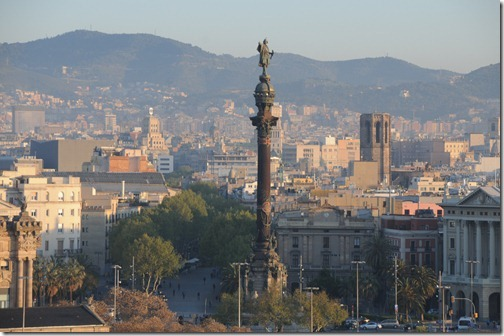 Columbus Monument / Column (Monument a Colom / Mirador de Colón) in Barcelona, Spain