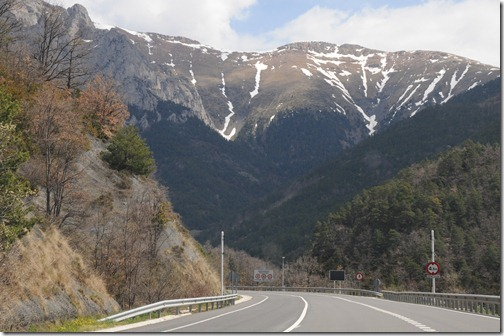 Driving to Andorra through the Spanish Pyrenees