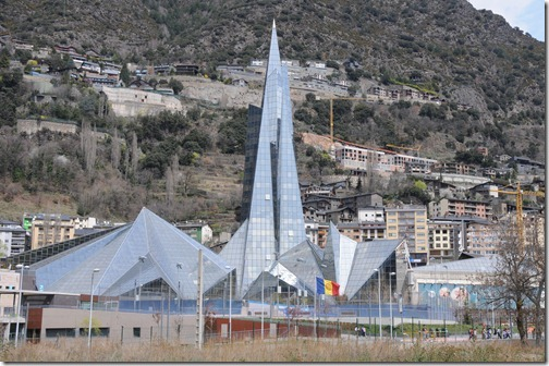 Caldea thermal spa building in Les Escaldes, Andorra