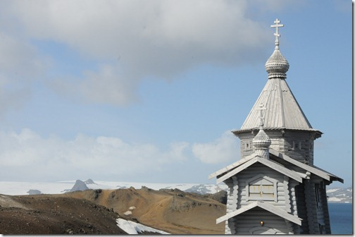 Trinity Church, the most southerly Eastern Orthodox church in the world at the Bellingshausen Russian Research base, Antarctica