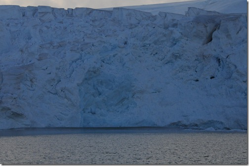 Wave generated from calving glaciers on Nelson Island, Antarctica