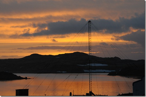 Evening sunset around midnight, Bellingshausen Research Base, Antarctica
