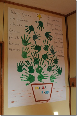 Made by the schoolchildren of 'Escuela F-50' in Villa las Estrellas, Antarctica