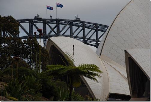 Sydney Opera House and the Sydney Harbour Bridge