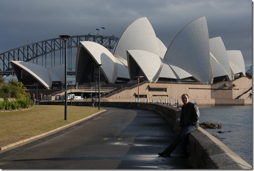 Self-portrait at the Sydney Opera House in Sydney, Australia