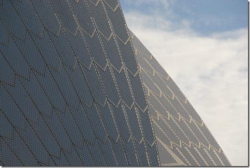 Glazed white ceramic tiles of the Sydney Opera House, Sydney, Australia