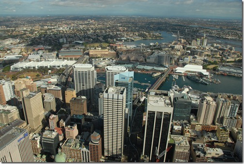 View of Darling Harbour from Sydney Tower, Sydney, Australia