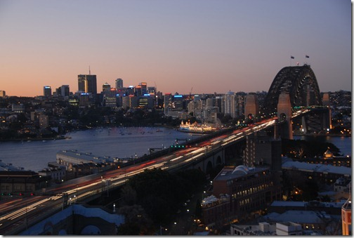 Sydney Harbour Bridge in the early morning