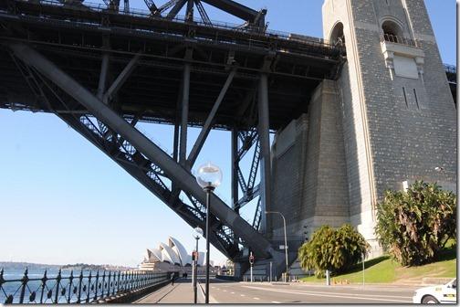 Underneath the Sydney Harbour Bridge south anchorage