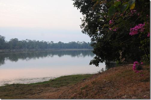 Moat around Angkor Wat, Cambodia