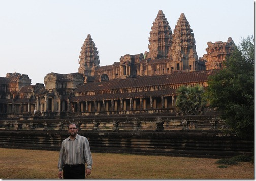 Self-portrait at Angkor Wat, Cambodia