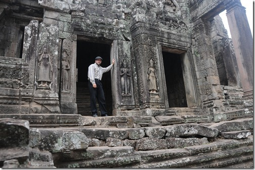 Self-portrait at the Bayon Temple, Angkor Thom, Cambodia