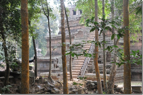 Phimeanakas pyramid in the Royal Enclosure of Angkor Thom, Cambodia