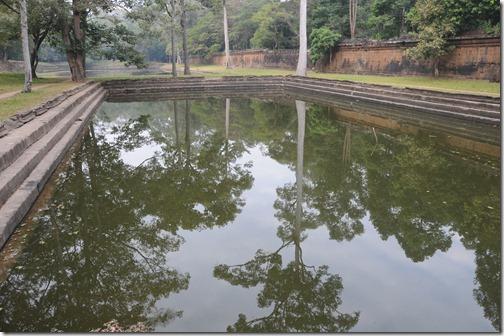 Royal Baths near the wall of the Royal Enclosure inside Angkor Thom, Cambodia
