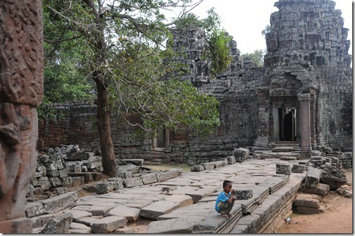Entryway into the Banteay Kdei Temple, Angkor region, Cambodia