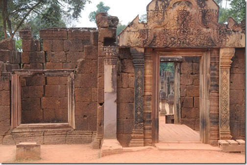 Doorway at Banteay Srei Temple, Cambodia