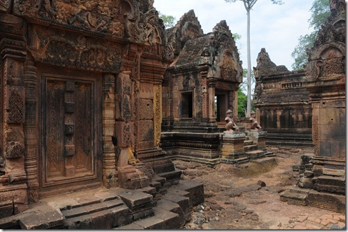 Detail inside Banteay Srei Temple, Cambodia