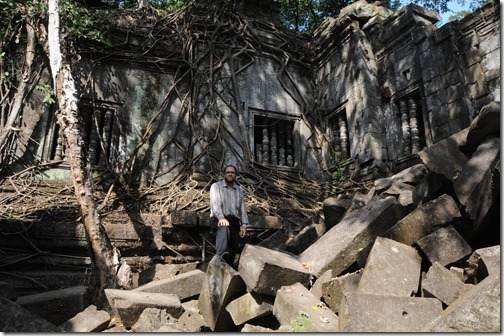 Self-portrait in the ruins of Beng Mealea, Cambodia