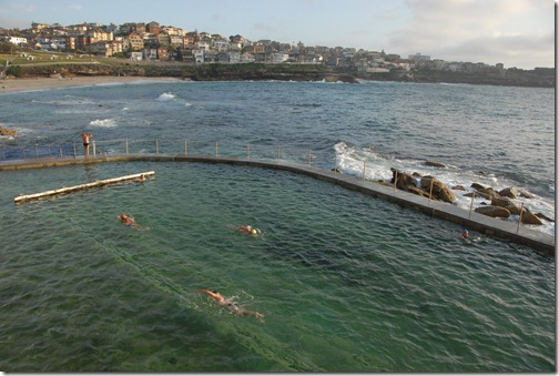 Swimmers in the Bronte Baths, Sydney, Australia
