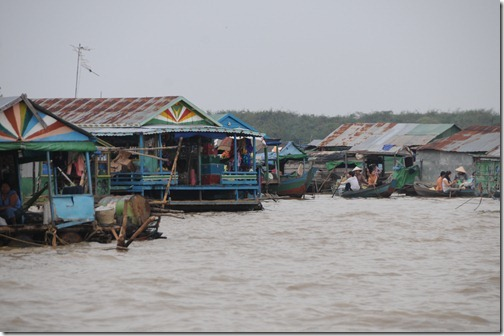 Floating Village of Chong Kneas on Tonlé Sap Lake, Cambodia