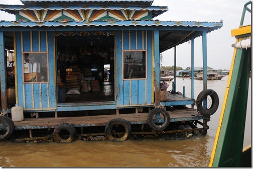 Market in the Floating Village of Chong Kneas on Tonlé Sap lake, Cambodia