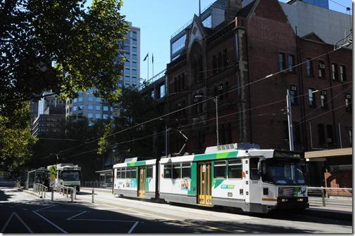 Modern trams in Melbourne, Victoria, Australia