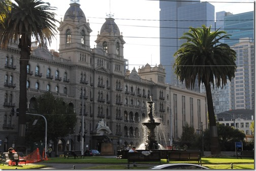The Hotel Windsor and the Stamford Fountain in Melbourne, Victoria, Australia