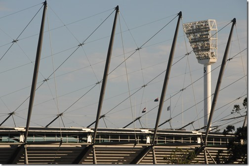Closeup of the Melbourne Cricket Ground (MCG) in Melbourne, Victoria, Australia