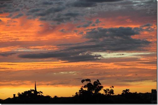 Sunrise over Melbourne, Victoria, Australia