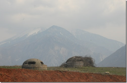 Hoxha Bunkers in Albania near the Albanian Alps