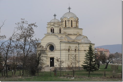 Serbian Orthodox Church in Laplje Selo (Лапље Село,) a Serb enclave near Prishtina, Kosovo