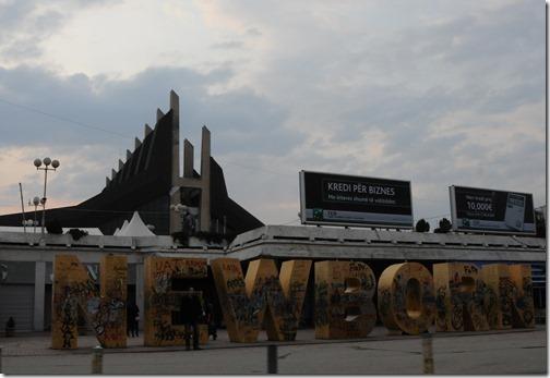 'Newborn' monument in Pristina, Kosovo