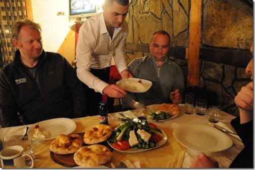 Albanian dinner in Pristina, Kosovo