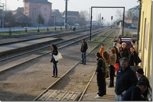 Preparing to take a train from Pristina, Kosovo to Skopje, FYRO Macedonia
