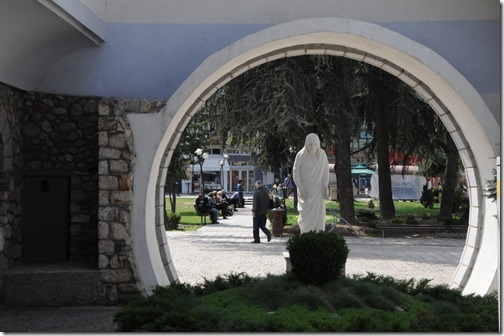 Statue of Mother Teresa at the Memorial House of Mother Teresa in Skopje, FYRO Macedonia