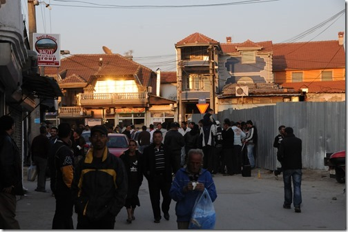 Street scene in Šuto Orizari (Шуто Оризари,) FYRO Macedonia