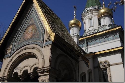 Facade of the Russian Church (Руска църква) in Sofia, Bulgaria