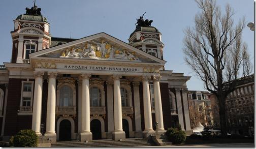 "Ivan Vazov National Theater (Народен театър ""Иван Вазов"") in Sofia, Bulgaria"