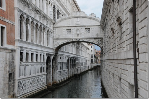 The Bridge of Sighs (Ponte dei Sospiri) in Venice, Italy