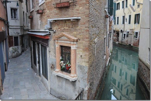 Narrow pedestrian streets and canalways in Venice, Italy