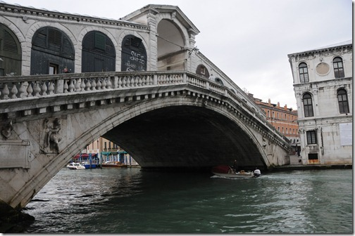 The Rialto Bridge over the Grand Canal in Venice, Italy